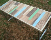 Reclaimed Wood Painted Table Wood Dining Table