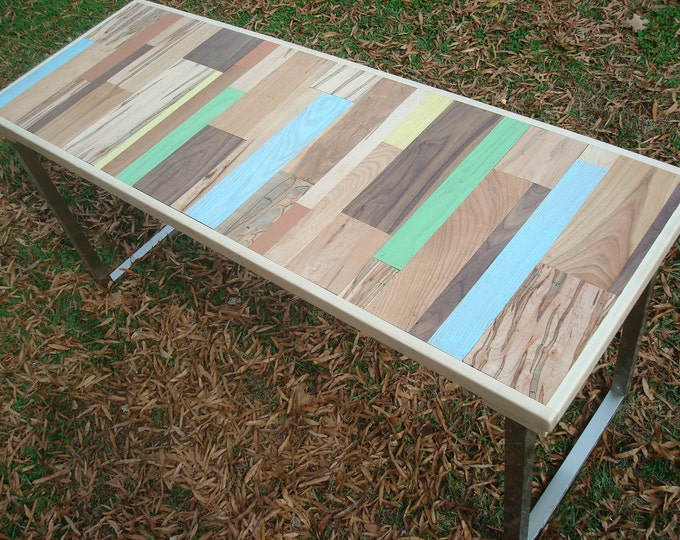 Reclaimed Wood Painted Table Wood Dining Table Handmade Table Wood Desk