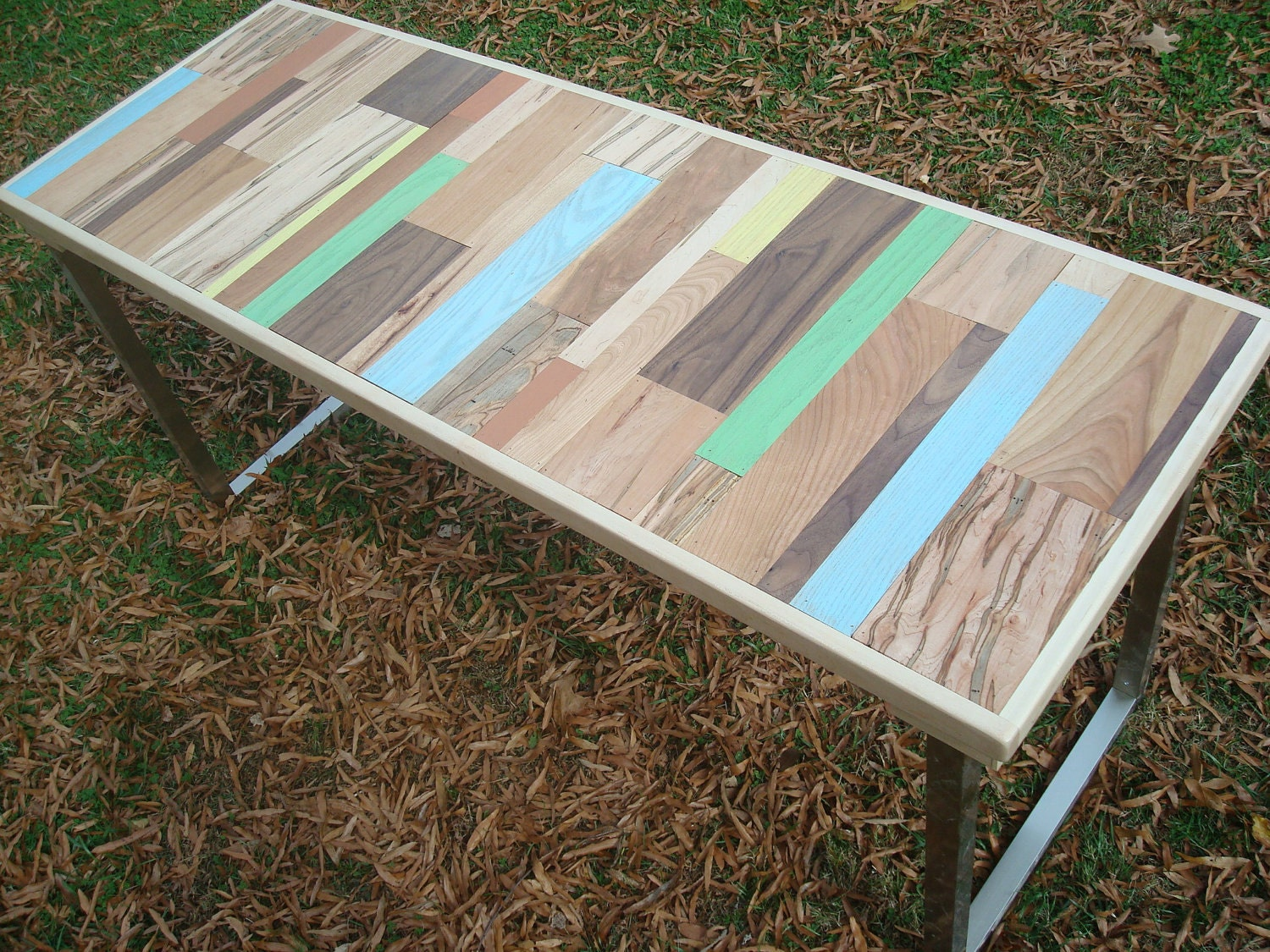 Reclaimed wood painted table wood dining table handmade table - Mobile legno fai da te ...