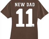 New Dad personalized sports style shirt - Father's Day Gift Idea
