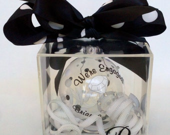 Personalized Custom Ornament Gift BOX acrylic Listing ADD ON - ornament sold separately