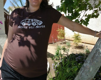 Never say Never minivan customized funny maternity shirt - pregnancy announcement shirt, shower gift