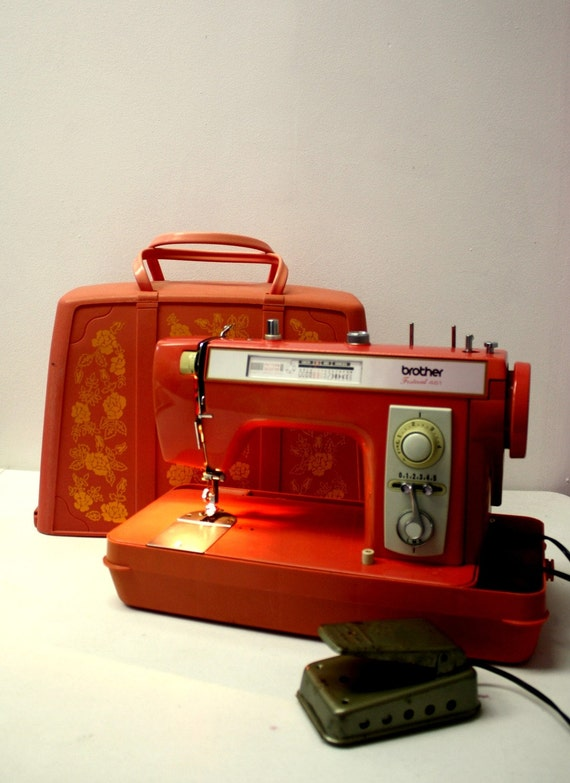 Vintage Pink Brother Festival 461 Sewing Machine