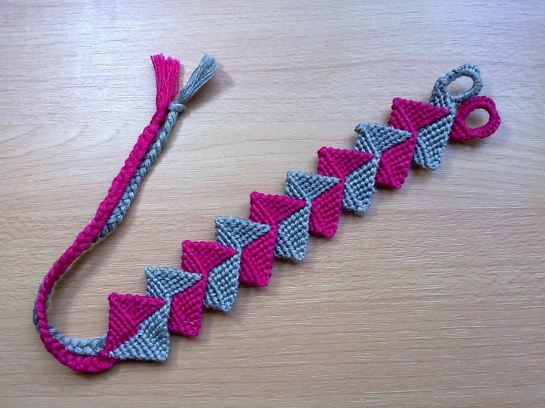 friendship bracelet intertwined zig zag by kalistebracelets