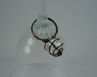 Handmade Wire Wrapped bronze colored copper ring