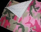 2 Pink Camo Burps Rags