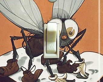 FLY GERM Vintage Poster Switch Plate (single or double)  ***FREE Shipping***