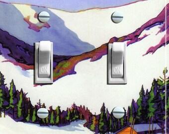 TUCKERMAN'S RAVINE Vintage Ski Poster Double Light Switch Plate   ***FREE Shipping***