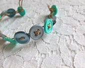 Button Bracelet- April Showers