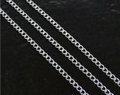 30 Inch Sterling Silver Curb Chain With 5mm Spring Clasp - Any Length Available