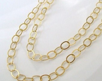 24 Inch Gold Filled Layering Oval Link Chain With Gold Filled Lobster Clasp - Any Length Available