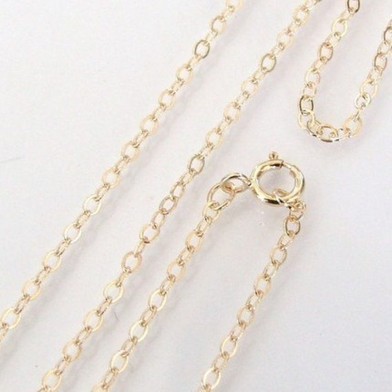 18 Inch Gold Filled Dainty Cable Chain With 5mm Spring Clasp - Any Length Available