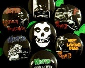 Misfits - Set of 7 - 1 inch pinback buttons