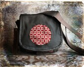 IN STOCK -  Small Tapestry and Leather DSLR Camera Bag