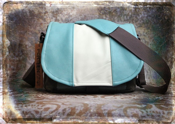 Leather Camera Bag - Bowling Bag Style Medium DSLR - IN STOCK