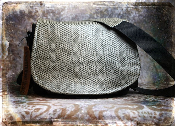 Leather Camera Bag - Rattlesnake Leather Medium DSLR - IN STOCK