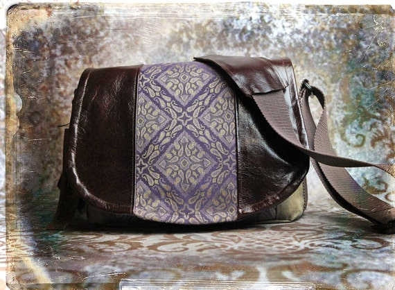 Leather Camera Bag - Purple Medium dslr - Pre-Order