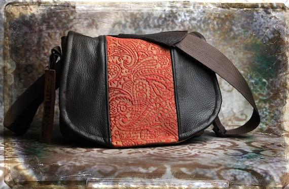 Leather Camera Bag - Paisley Tapestry Medium DSLR - Pre-Order