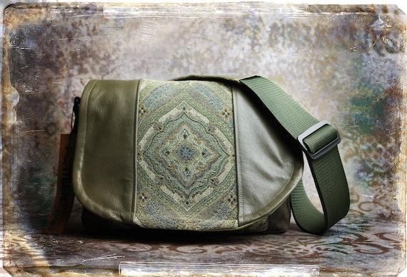 Leather Camera Bag -  Tapestry Medium DSLR - IN STOCK