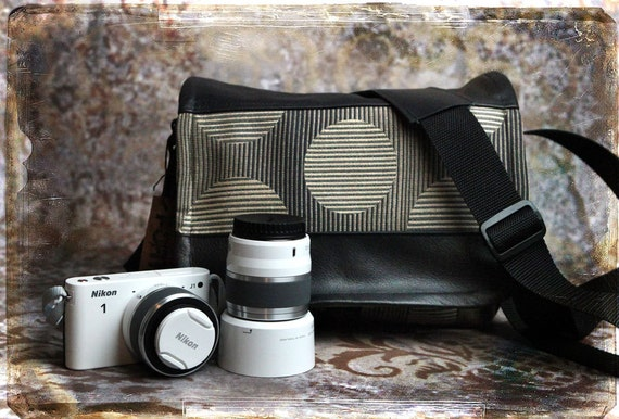 Leather Camera Bag - NEW SIZE - Mirrorless Compact Camera System Video Bag - Pre-Order