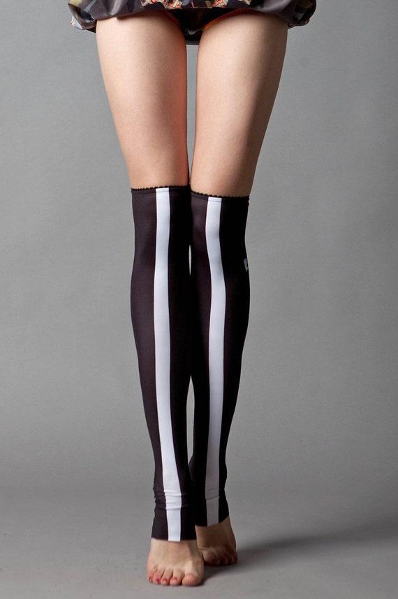 White Stripe stockings
