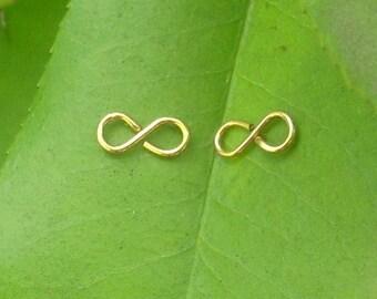 Gold wire Infinity Earrings
