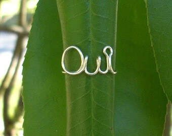Silver wire Oui Ring