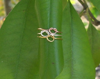 Set of 3 Knot Stacker Rings