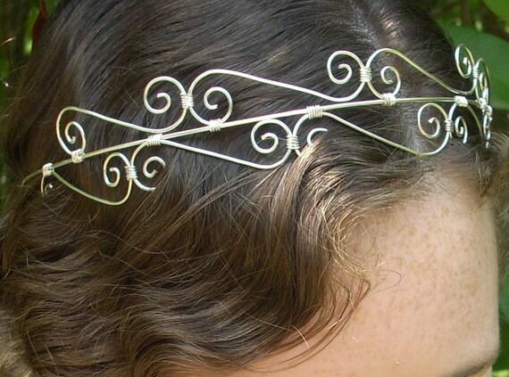 Silver wire Head band/Tiara/Crown