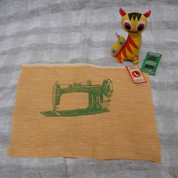 Tangerine Sewing Machine Patch