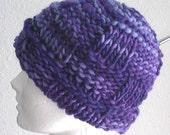 Victorian Plum hand knit hat