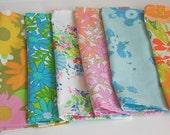napkins please....set of 7 vintage fabric napkins