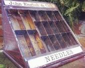 Antique General Store Needle Showcase
