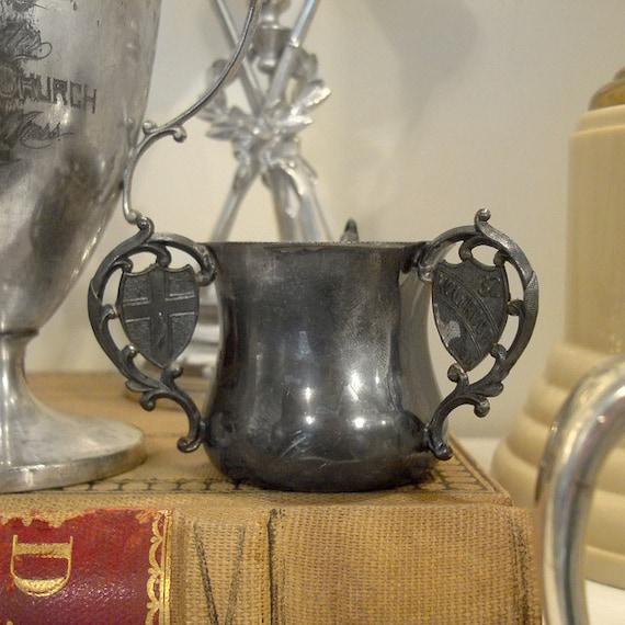 SALE Antique 1903 Silver Masonic Souvenir Cup - Knights Templars Conclave