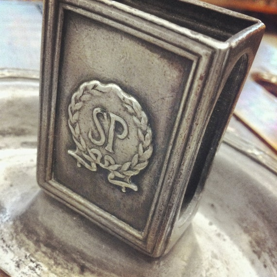Vintage Silver Hotel Match Holder from The Savoy Plaza