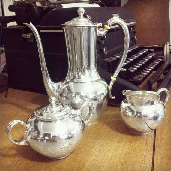 Vintage 1930s Silver Tiffany & Co Tea Set from The Rock Hotel