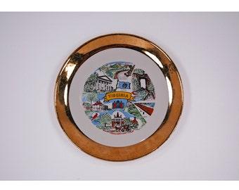 Vintage Virginia Souvenir Plate