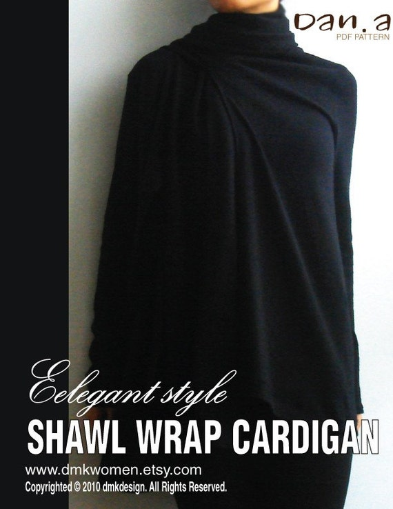 Elegant Style Shawl Wrap Cardigan (PDF Patterns and instructions)