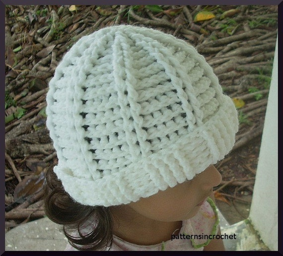 Knitting Pattern Central Baby Hats : Items similar to Crochet Ribbed Hat-PDF PATTERN on Etsy