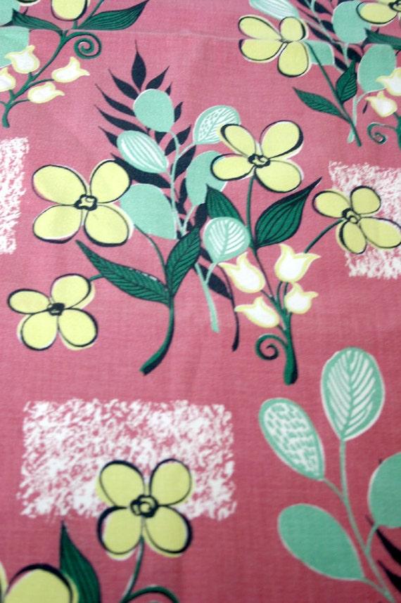 Mid Century Bark Cloth Retro Design