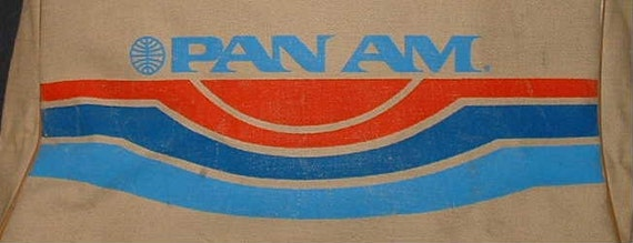 Just Reduced--Vintage Pan Am Airline Travel Bag-Canvas Made in USA-Out of Business now.