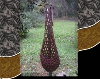 Kangaroo Pouch Stork Sling Hanging Cocoon Newborn to 3 months Photo Prop Chocolate Brown Crocheted