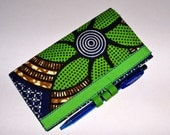 Checkbook cover in unique African fabric