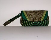 Clutch - wristlet in Unique African Fabric