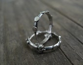 Spring - Hoops Earrings, Silver Tiny Unisex Every Day Hoops Modern Classic Design, Holiday Sale