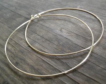 Bohemian Jewelry, Spring Extra Huge Gold Hoops Earrings, Simple XXXXL Large  9 cm/3.5 inch Earrings, Handmade 14k Gold Filled Modern Hoops