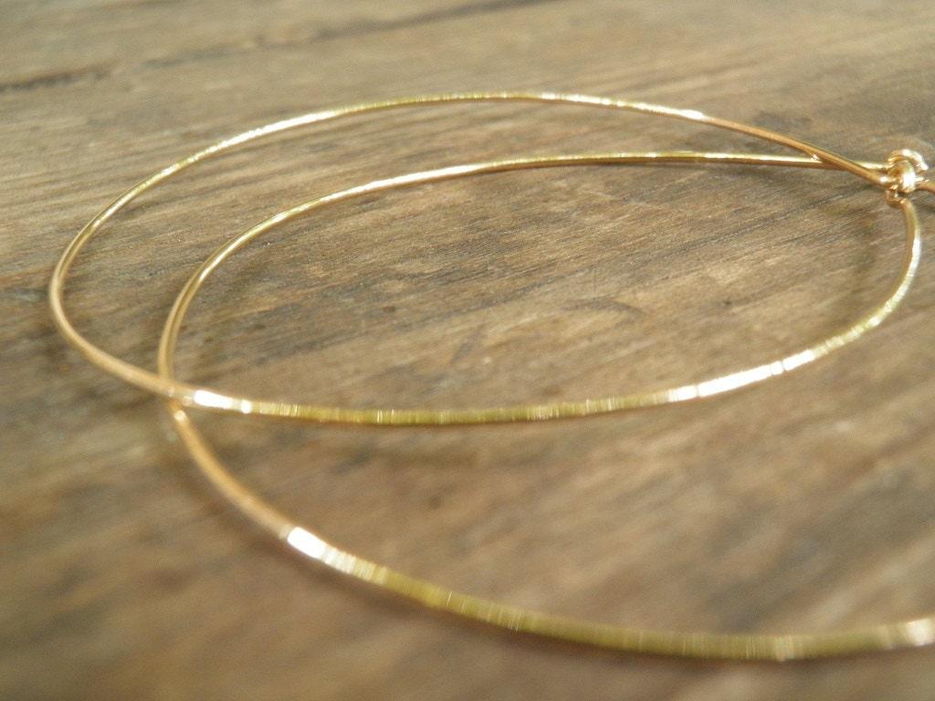 Huge XXXL Gold Hoops 7 cm / 3 inch Earrings Simple XXXL Large