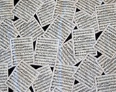 1 yd. black & white sheet music print cotton fabric