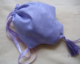 Regency Reticule,Bag. Victorian. Jane Austen. Lilac, Lavender Silk.