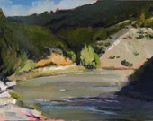 Guadalupe River Bend, Hunt, Texas plein air painting